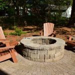 Custom Paver Fire Pit in Charlotte NC | Designed by MetroGreenscape