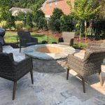 Outdoor fire pit | MetroGreenscape custom build in Charlotte NC