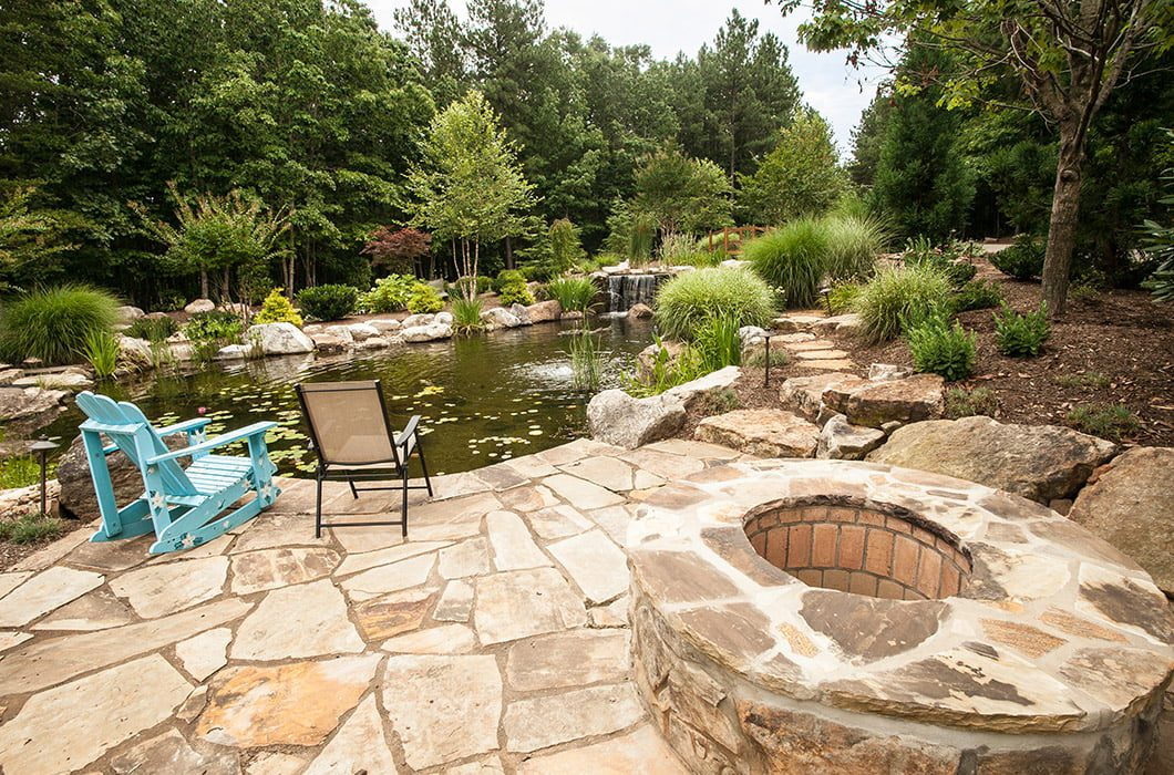 Luxury Natural Stone Fire Pit in Charlotte NC
