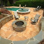 Seating Wall and Fire Pit: Charlotte, NC services include custom builds.