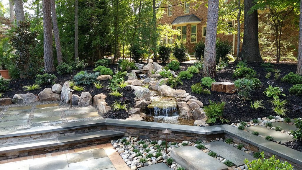Landscaping with rocks can add color and variety