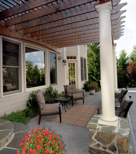Outdoor patio in Charlotte NC by MetroGreenscape