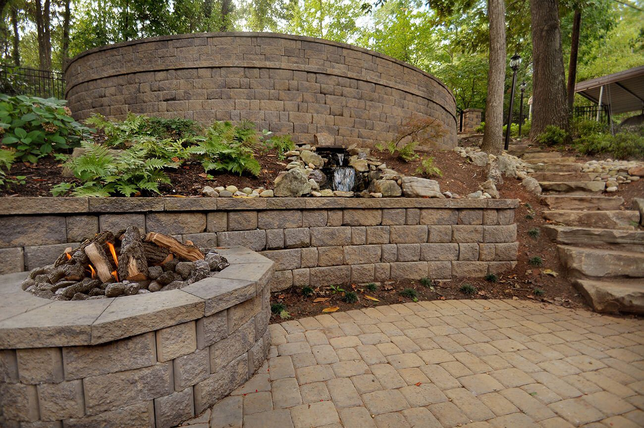 Custom retaining walls improve your home's look and feel.
