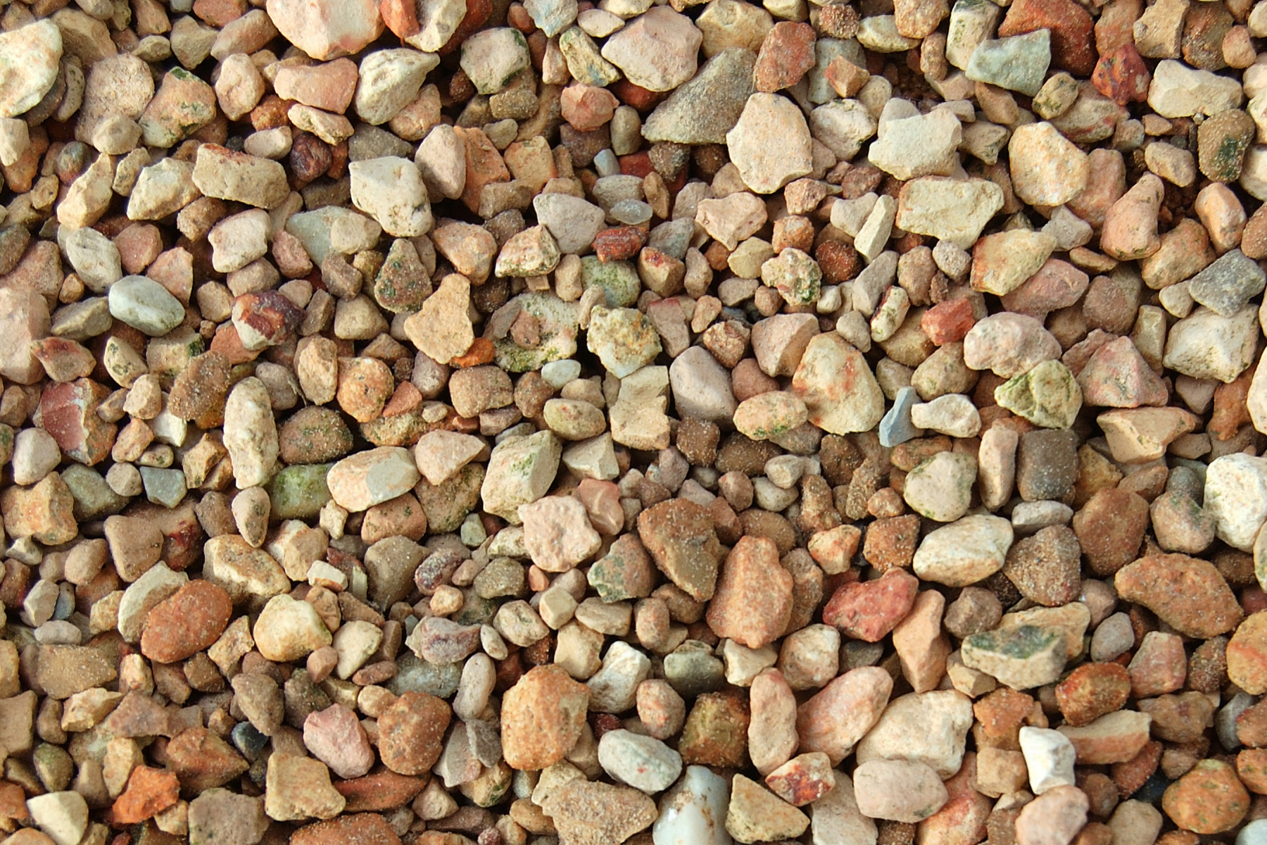 Landscaping with rock including pea gravel