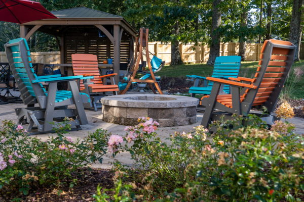 Custom patio and fire pit Indian Trail NC | MetroGreenscape