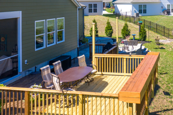 Second-story deck in Charlotte NC by MetroGreenscape