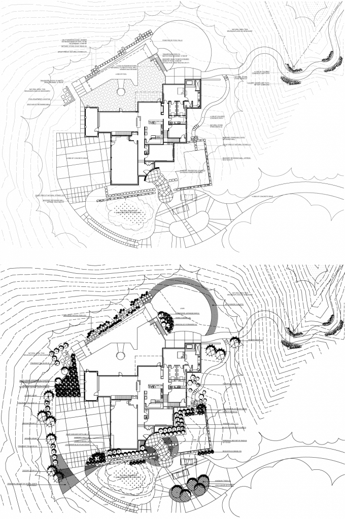 Luxury outdoor living design blueprints by MetroGreenscape